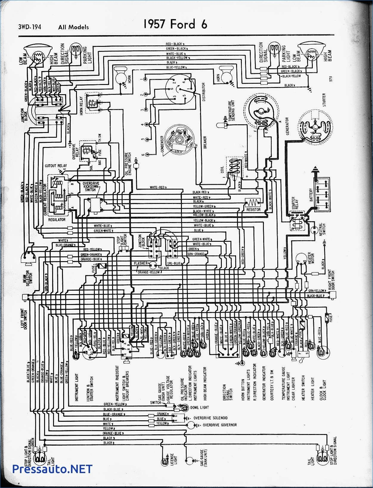 1954 Ford Crestline Wiring Diagram Reinvent Your 1960 F100 Loom Peugeot 307 Power Steering Pressauto Net In On Rh Pinterest Com Brake Light Switch 1953