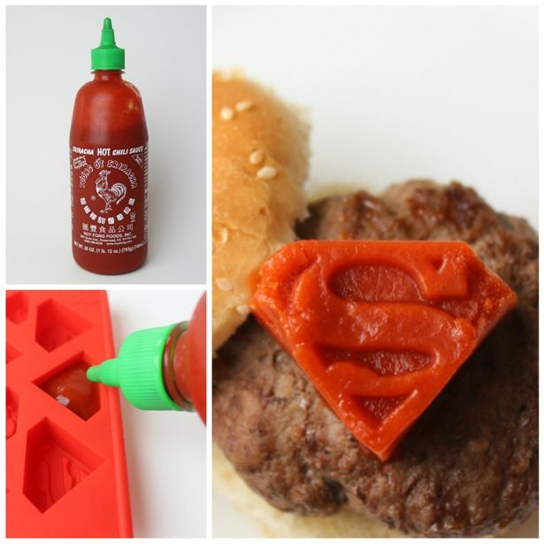 It's a bird! It's a plane! It's... Superman Sriracha sliders! YUM.