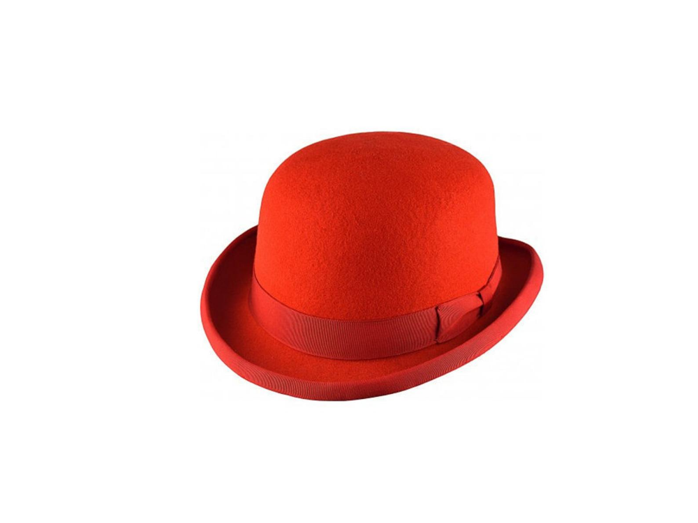 Red Bowler Hat Derby Bowler Hats Wool Derby Hats Sombreros De Etsy Bowler Hat Bowler Hat Women Hats