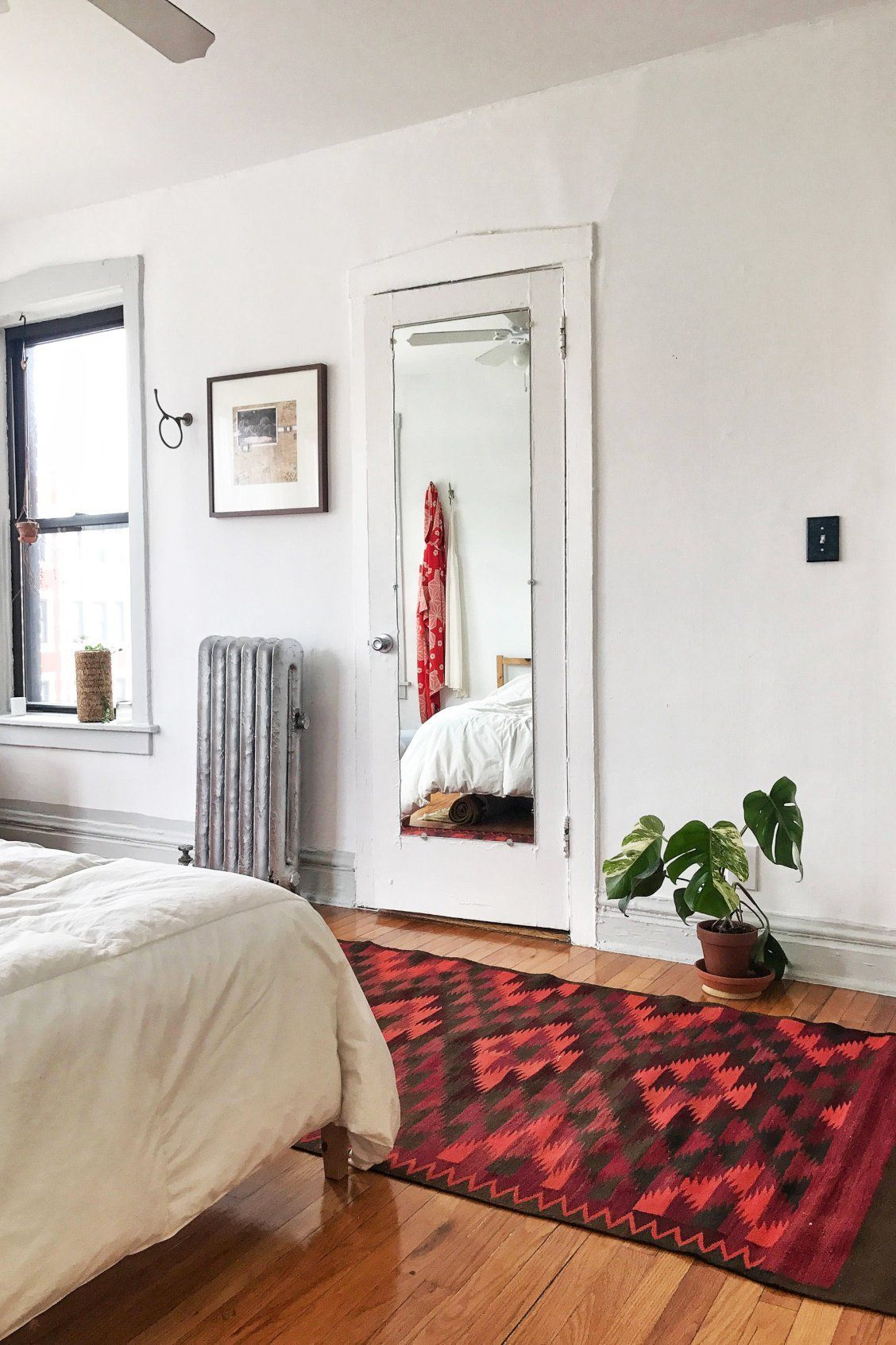 Vintage raspberry red rug adds that perfect pop of color and ...