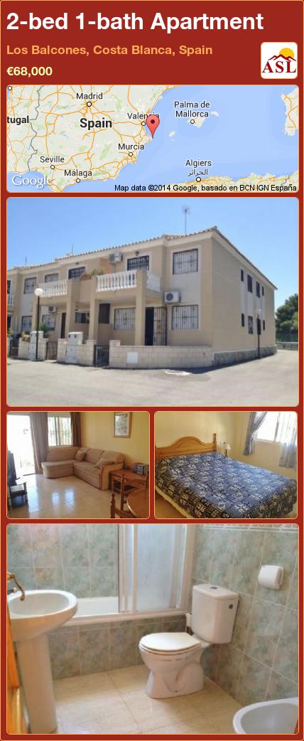 2-bed 1-bath Apartment in Los Balcones, Costa Blanca, Spain ►€68,000 #PropertyForSaleInSpain
