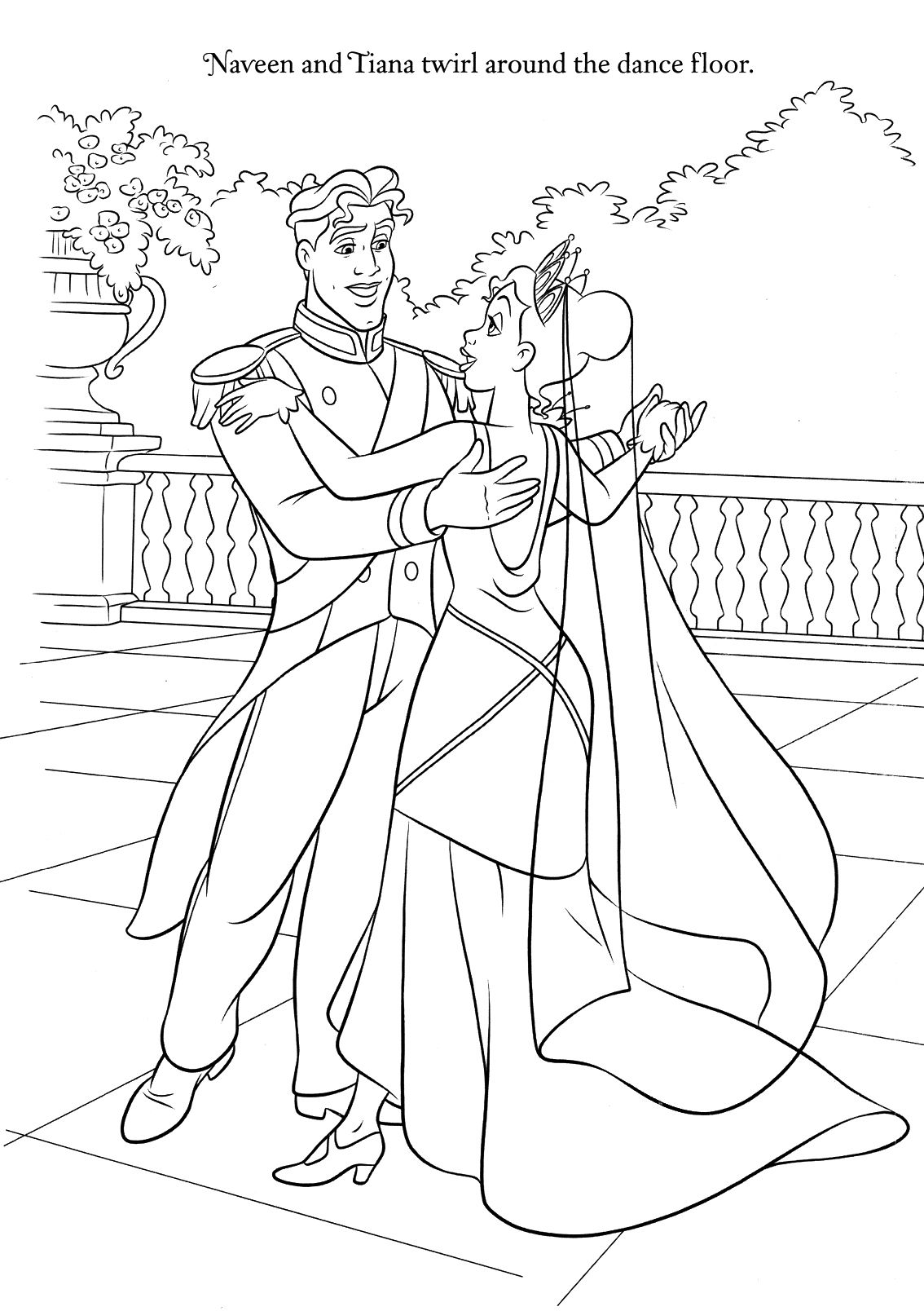 Disney Coloring Pages Wedding coloring pages, Disney