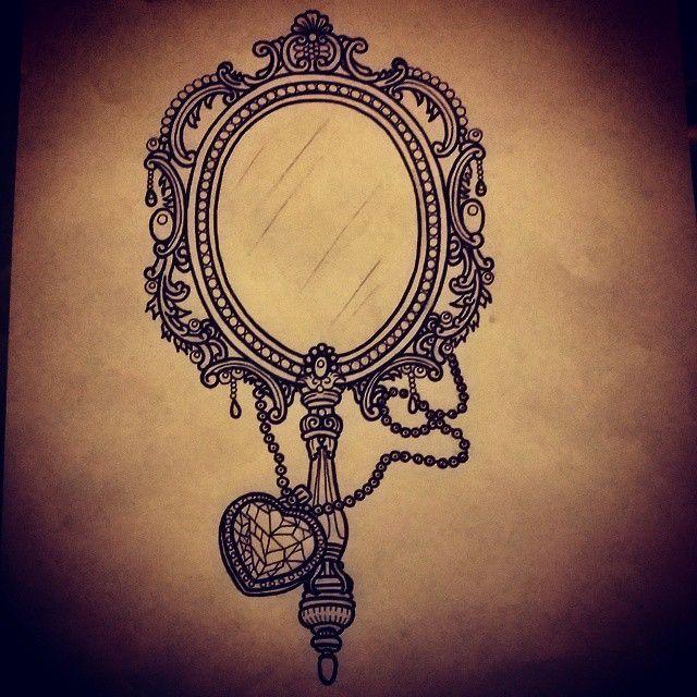 Mirror Victorian Tattoo Mirror Tattoos Hand Mirror Tattoo Doodle Ideas Mirror Tattoos Victorian Tattoo Victorian Mirror