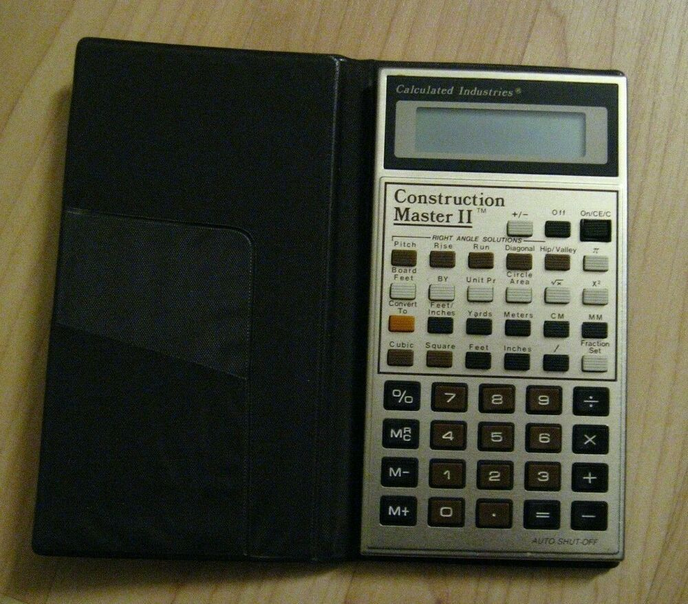 Calculated industries calculator vintage 1988