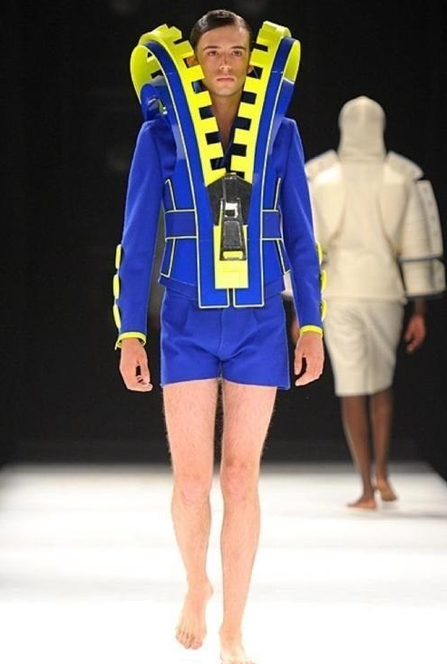 Fashion Fail Big Zipper Outfit Sure... I'd like to see my man rock this... not!