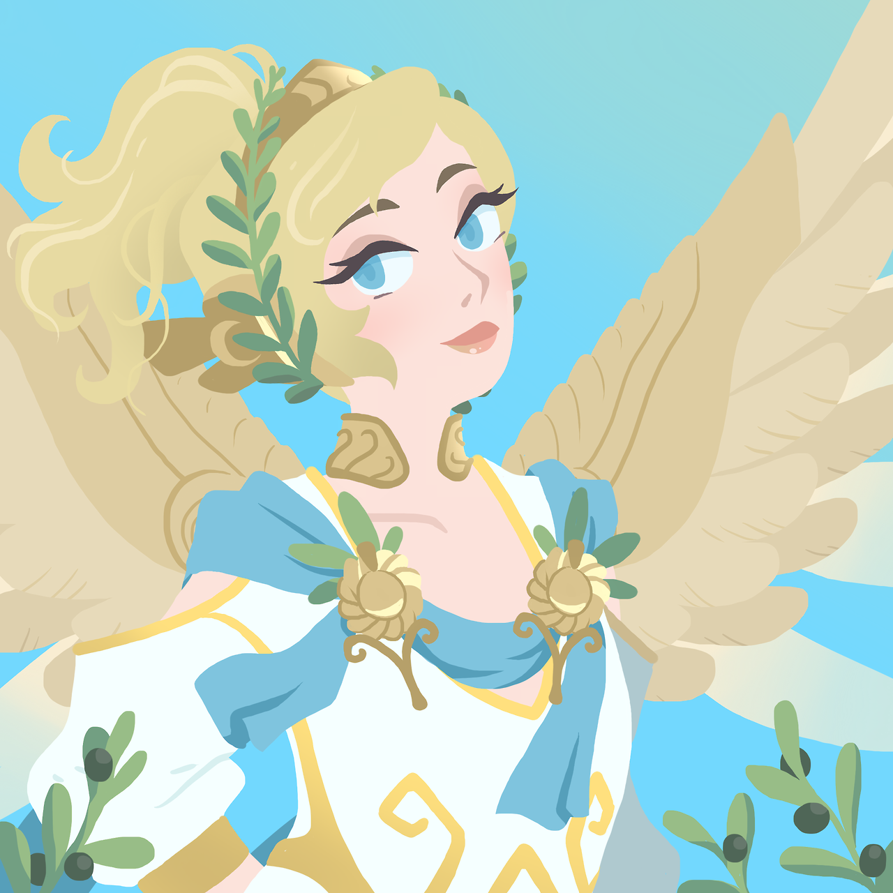 Overwatch Winged Victory Mercy Chelsea Belcher : Photo | Fictional ...