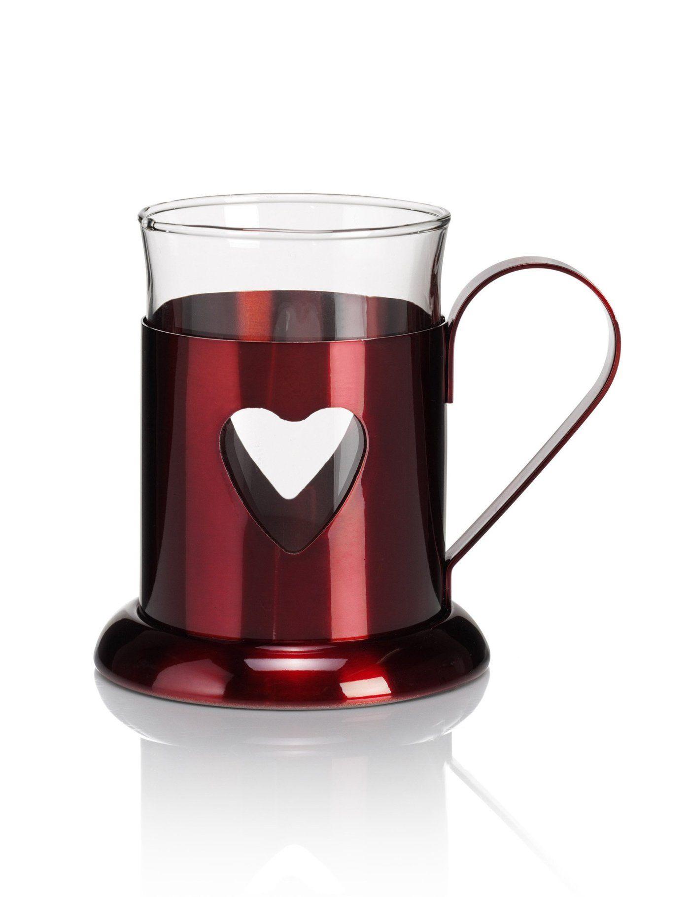 Metallic Heart Mug imagens) Canecas