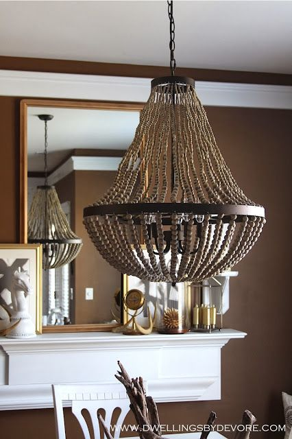 World Market Beaded Chandelier Nice Option For Over The Dining Table