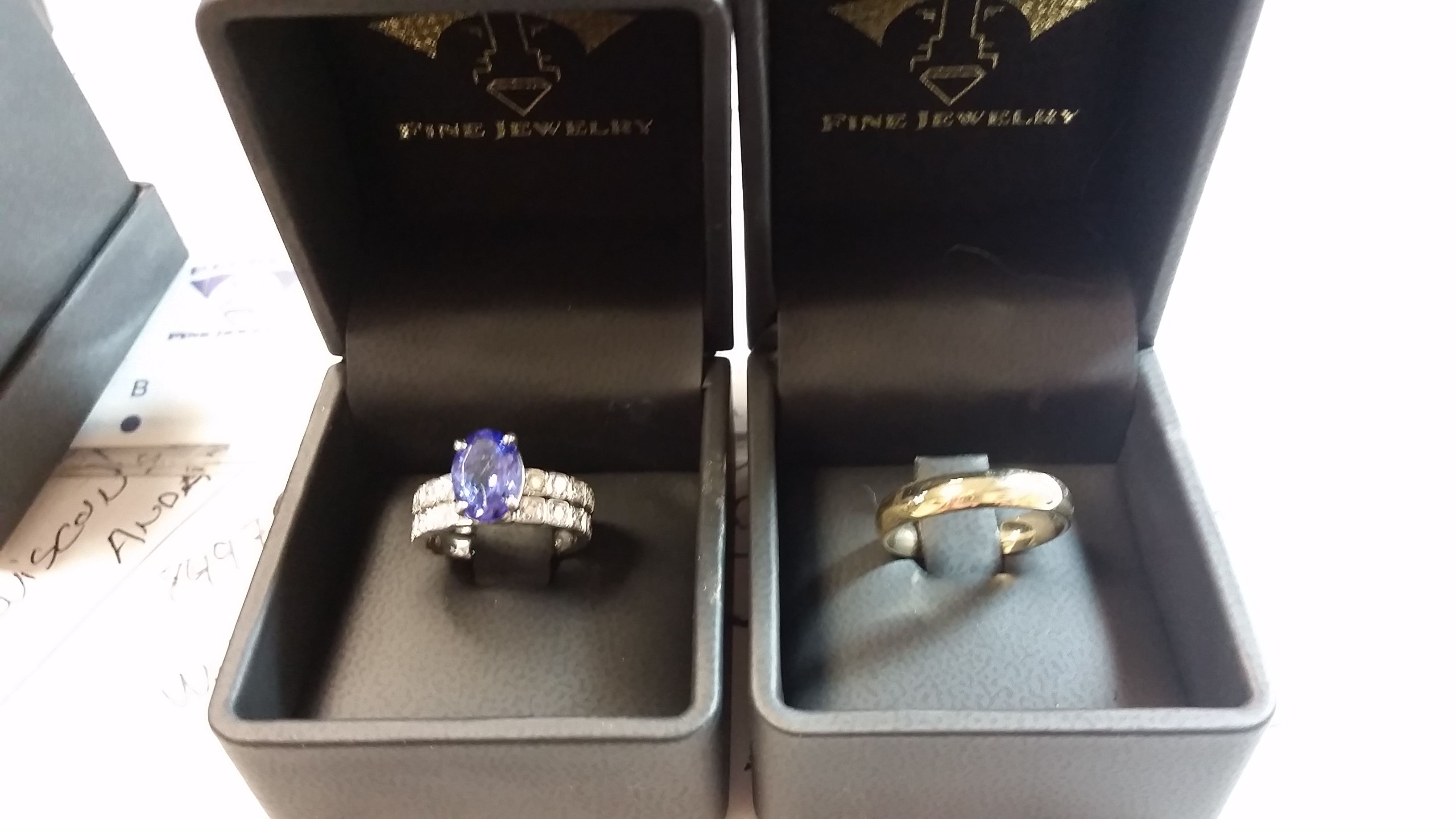 floral gold jcr oval john tanzanite size c band white bands img signed rinker w ring filigree wide products diamonds