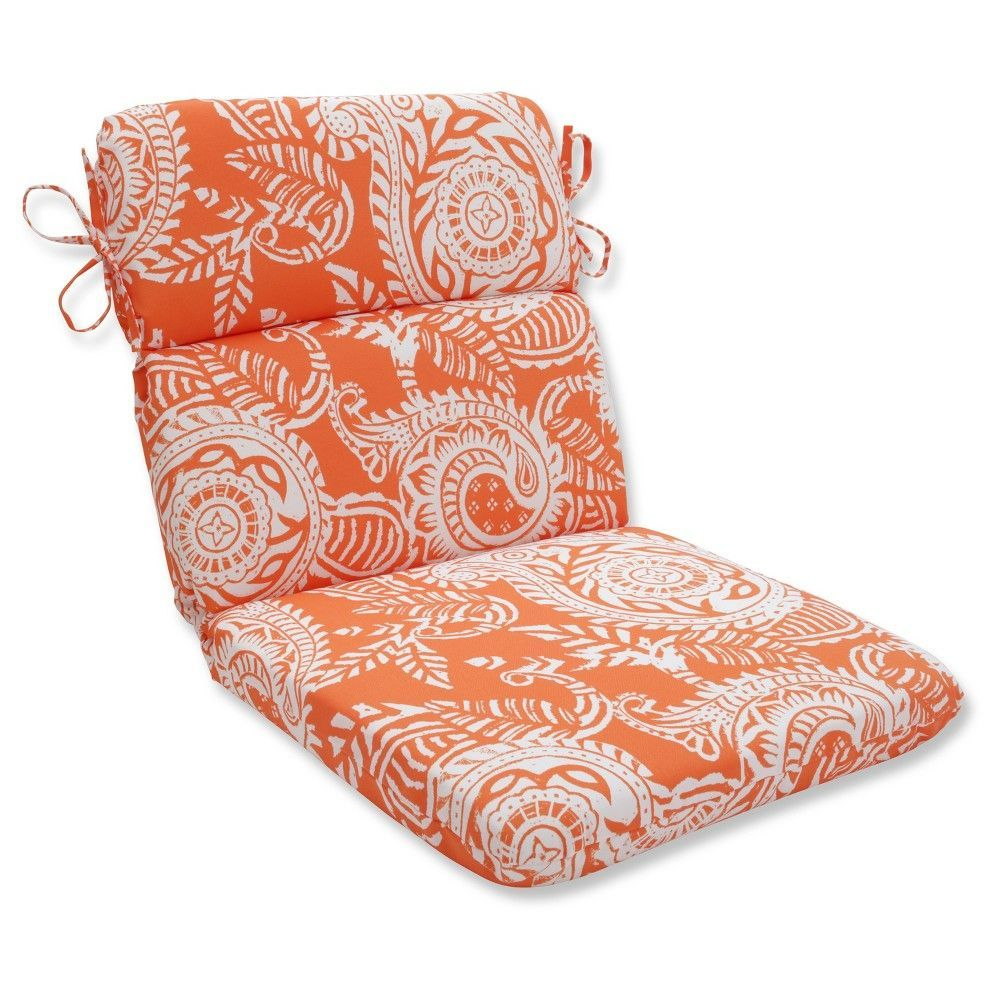 Outdoorindoor addie terra cotta rounded corners chair cushion
