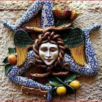 Trinacria The Symbol Of Sicilia Sicily Sicily Symbols And Roman