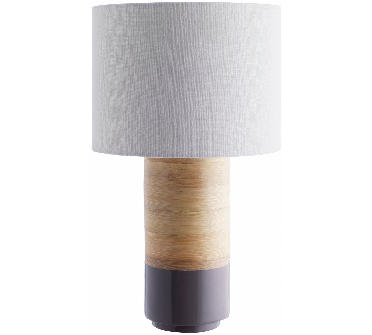 Buy habitat tub spun bamboo table lamp grey at argos buy habitat tub spun bamboo table lamp grey at argos geotapseo Image collections