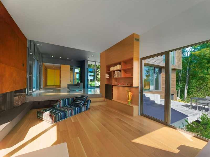Interieur Maison Modern : The t house is a modern country retreat in canada lets go home