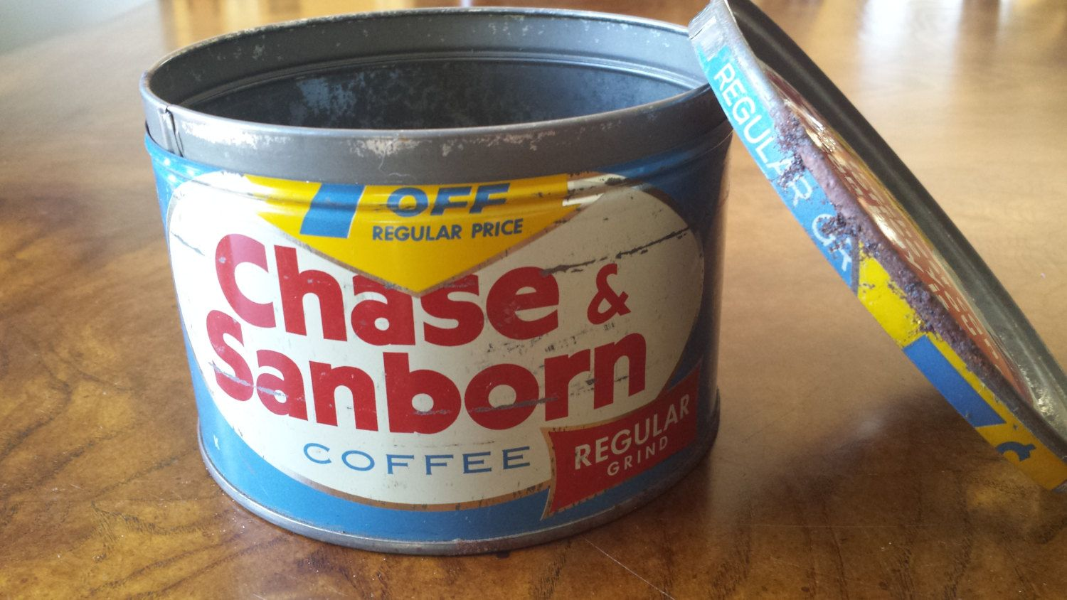 1950s Chase and Sanborn Coffee Tin by 3LittleWitches on Etsy