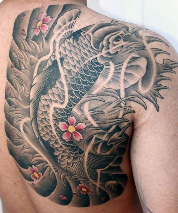 Koi Fish Tattoos For Men Tato Keren Tato Punggung Tato Pria