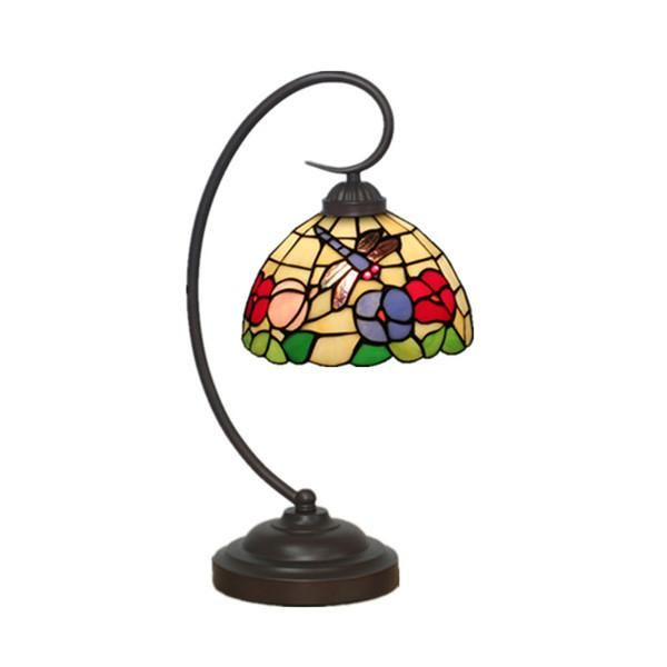 Tiffany Dragonfly Stained Glass Desk Lamp TL147 – Dragonfly Desk Lamp