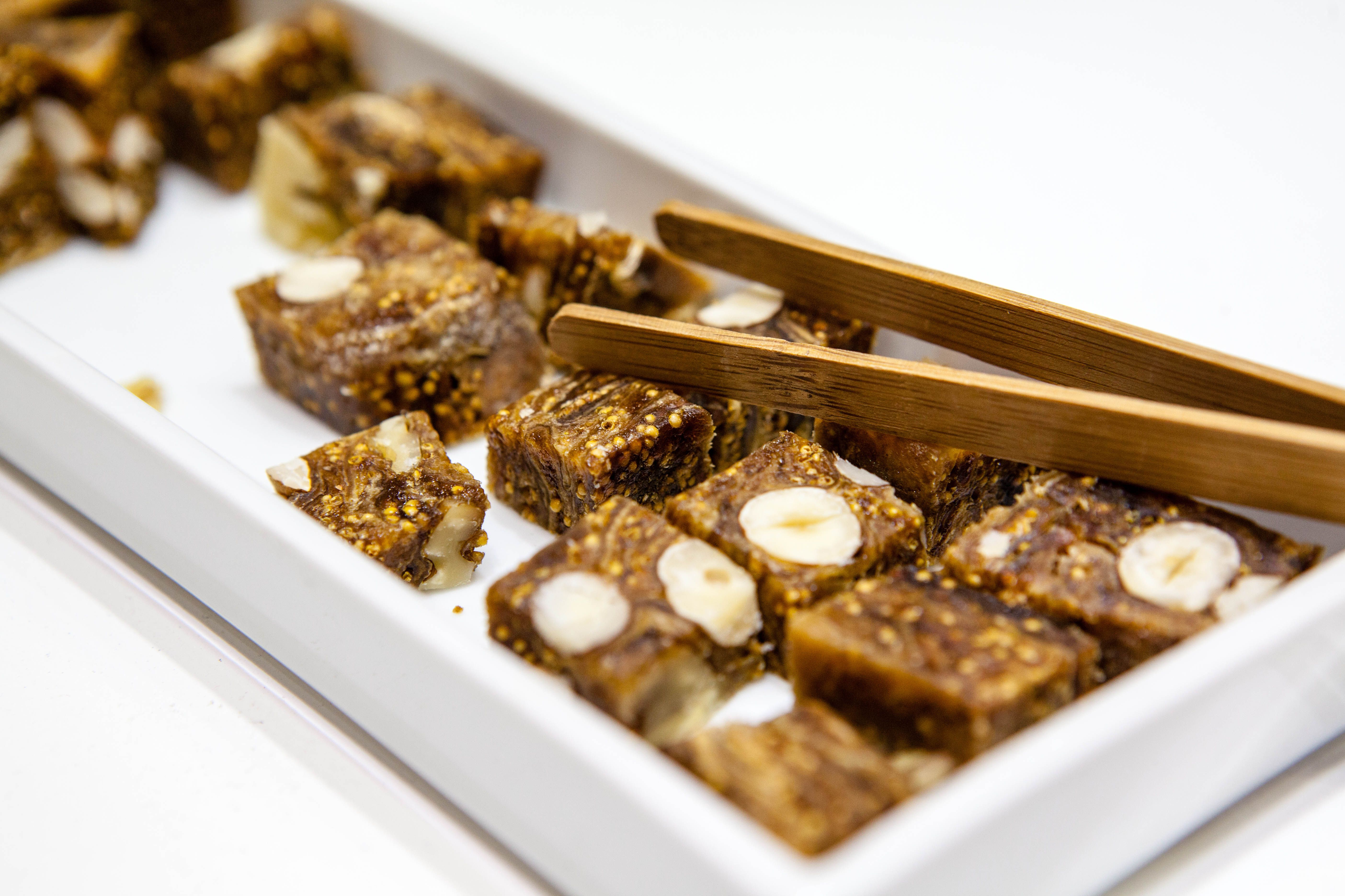 Mitica® Fig Cake with Mixed Nuts from Valencia, Spain. With Marcona Almonds, Hazelnuts, and Walnuts