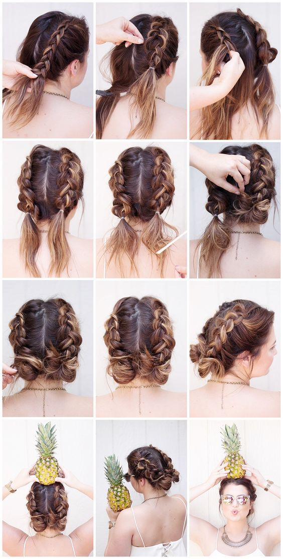 Say Goodbye To The Half Up Half Down Bun Double Buns Have Officially Taken Over As The Trendiest Cool Girl Ha Hair Styles Long Hair Styles Braided Hairstyles