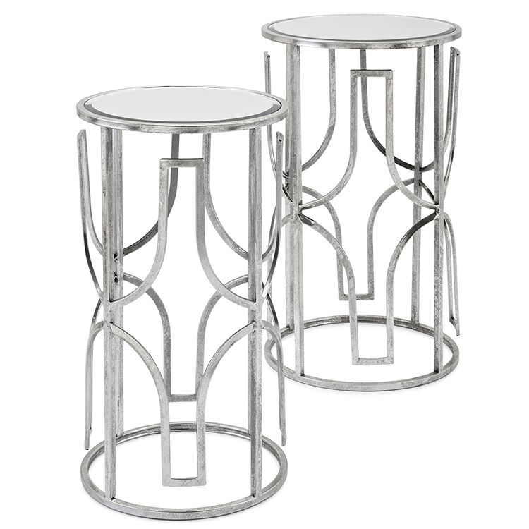 Imax 72255 2 Florence Accent Table Mirrored Accent Table