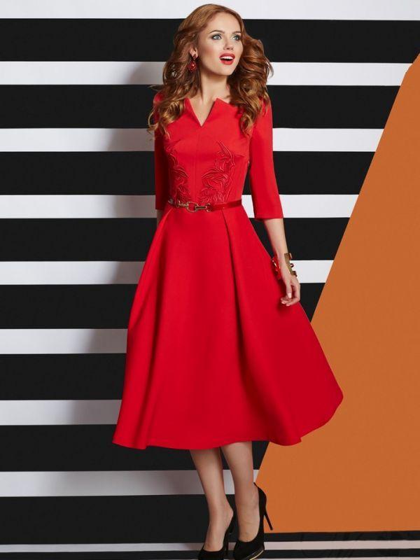 midi-kleid-lyusche-rot | Love | Pinterest | Vintage kleider, Rot und ...