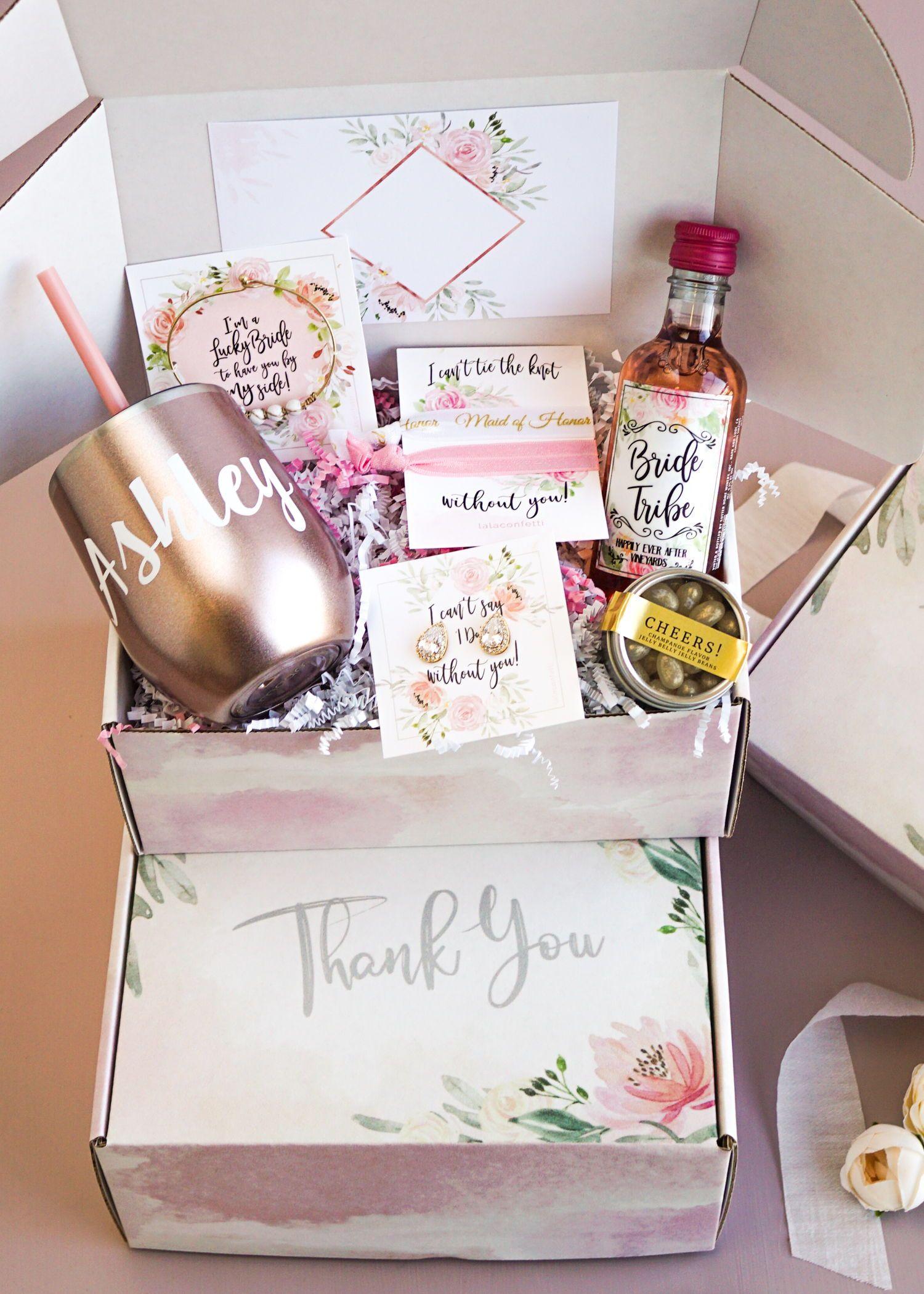 Bridesmaid thank you box original edition gifts for