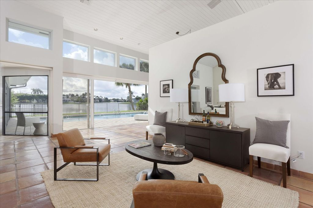 Contemporary Living Room With Ceiling Fan Carpet Terracotta Tile Floors High Living Room Tiles Home Contemporary Decor