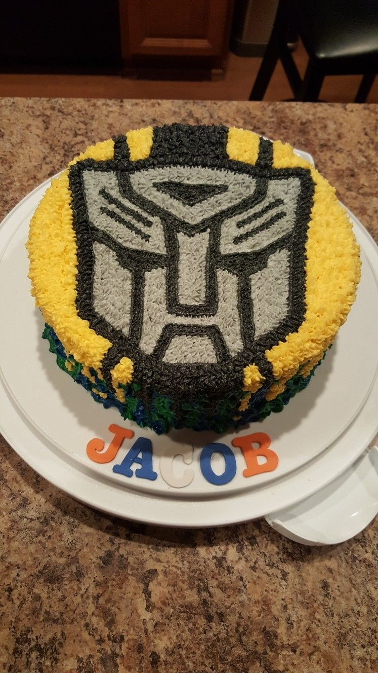 Transformers Cake Bumblebee Cake Transformers Party