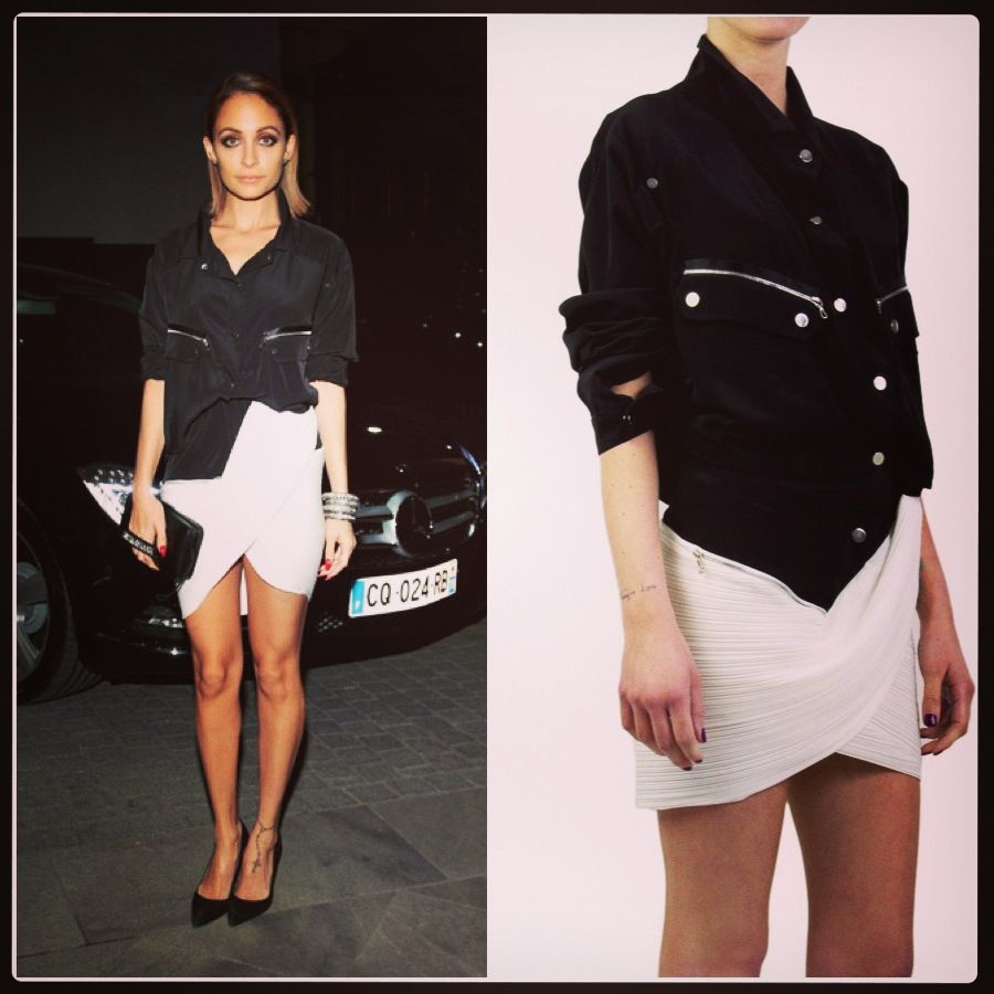 Nicole Richie in Anthony Vaccarello- Shop it at railso.com