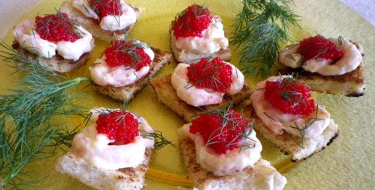 Toast With Shrimp & Roe (Toast Skagen) Recipe - Food.com