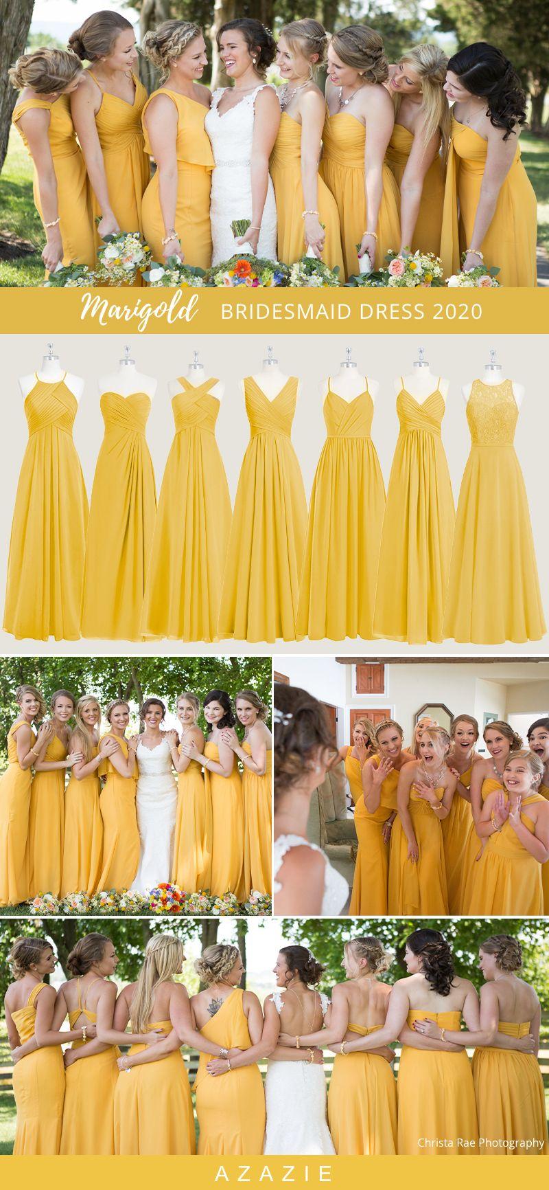 2020 Wedding Color Ideas Marigold Bridesmaid Dresses Marigold Bridesmaid Dress Mustard Yellow Bridesmaid Dress Summer Bridesmaid Dresses [ 1732 x 800 Pixel ]