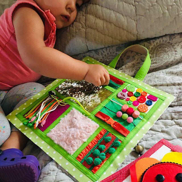 Quiet montessori book ,Quiet book, Toddler Sensory