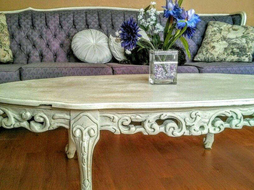 A Passion For Purple, French Provincial Couch