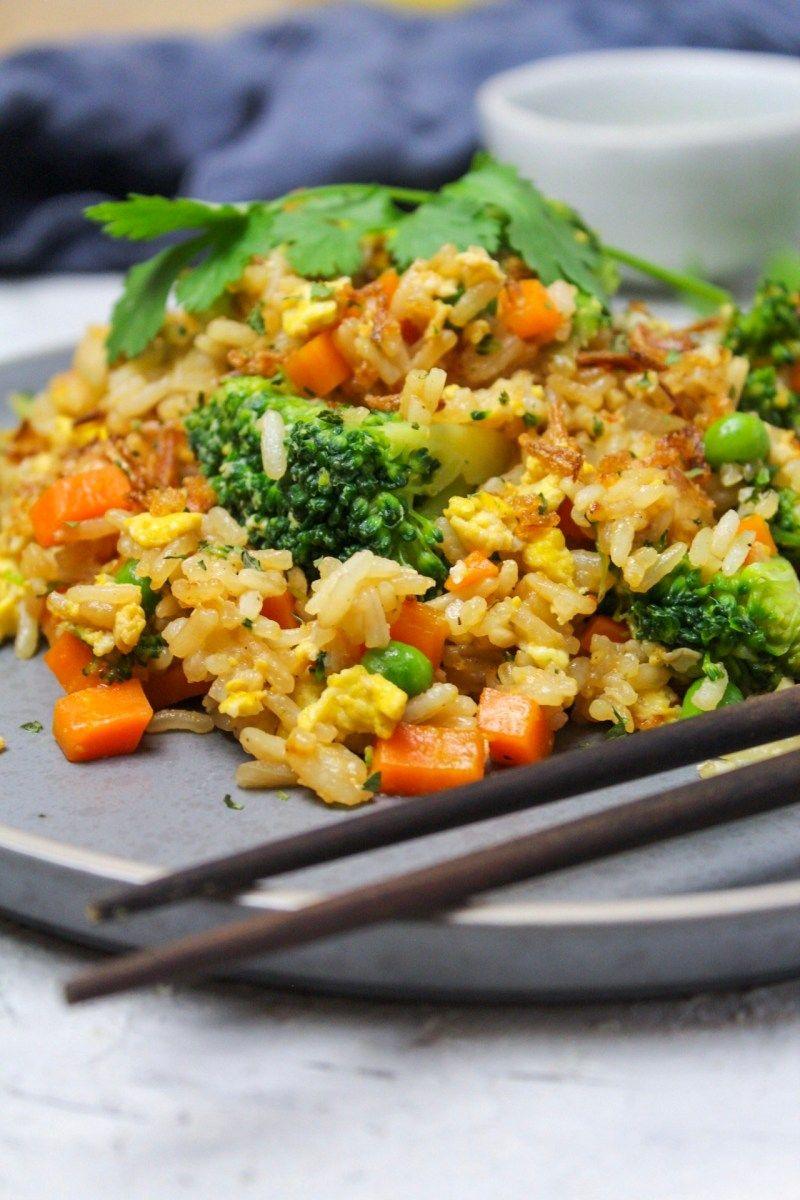 Gebratener Reis mit Gemüse und Ei | kitchensplace