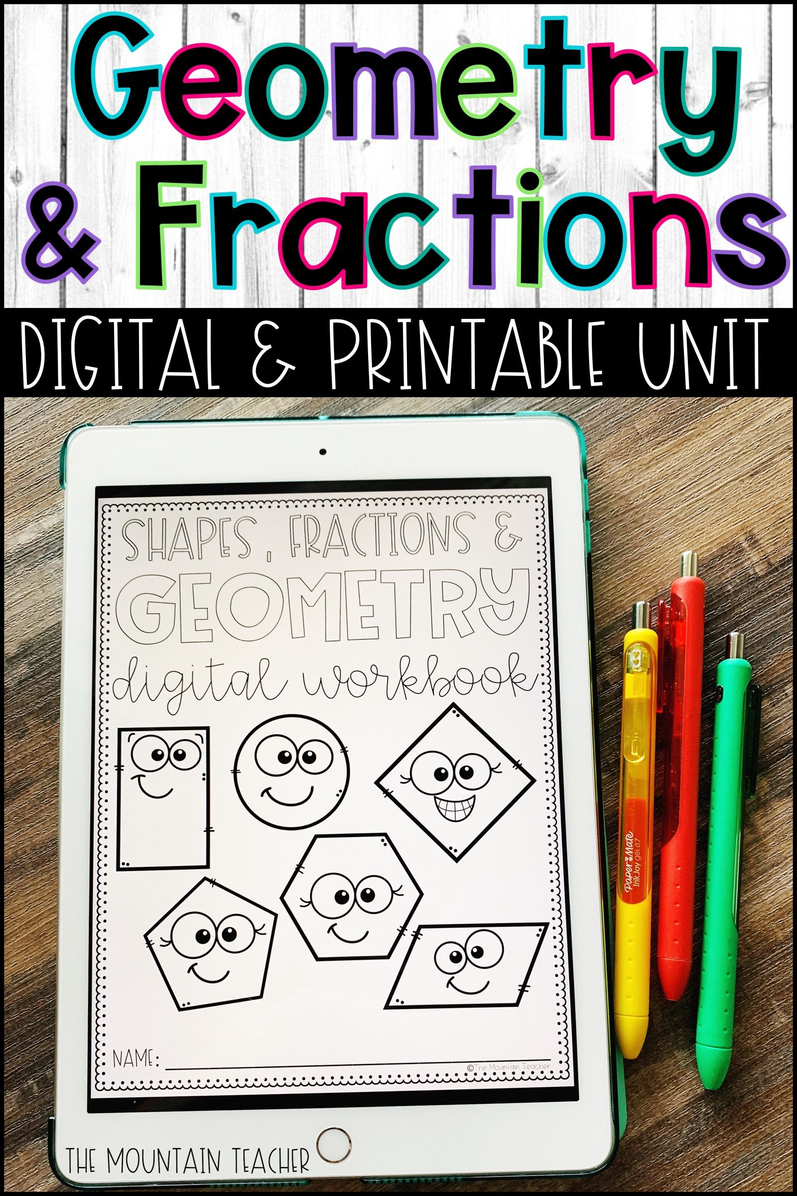 Digital 2nd Grade Geometry Unit For Google Classroom On Google Slides Geometry Worksheets Elementary Math Lessons Teaching Geometry