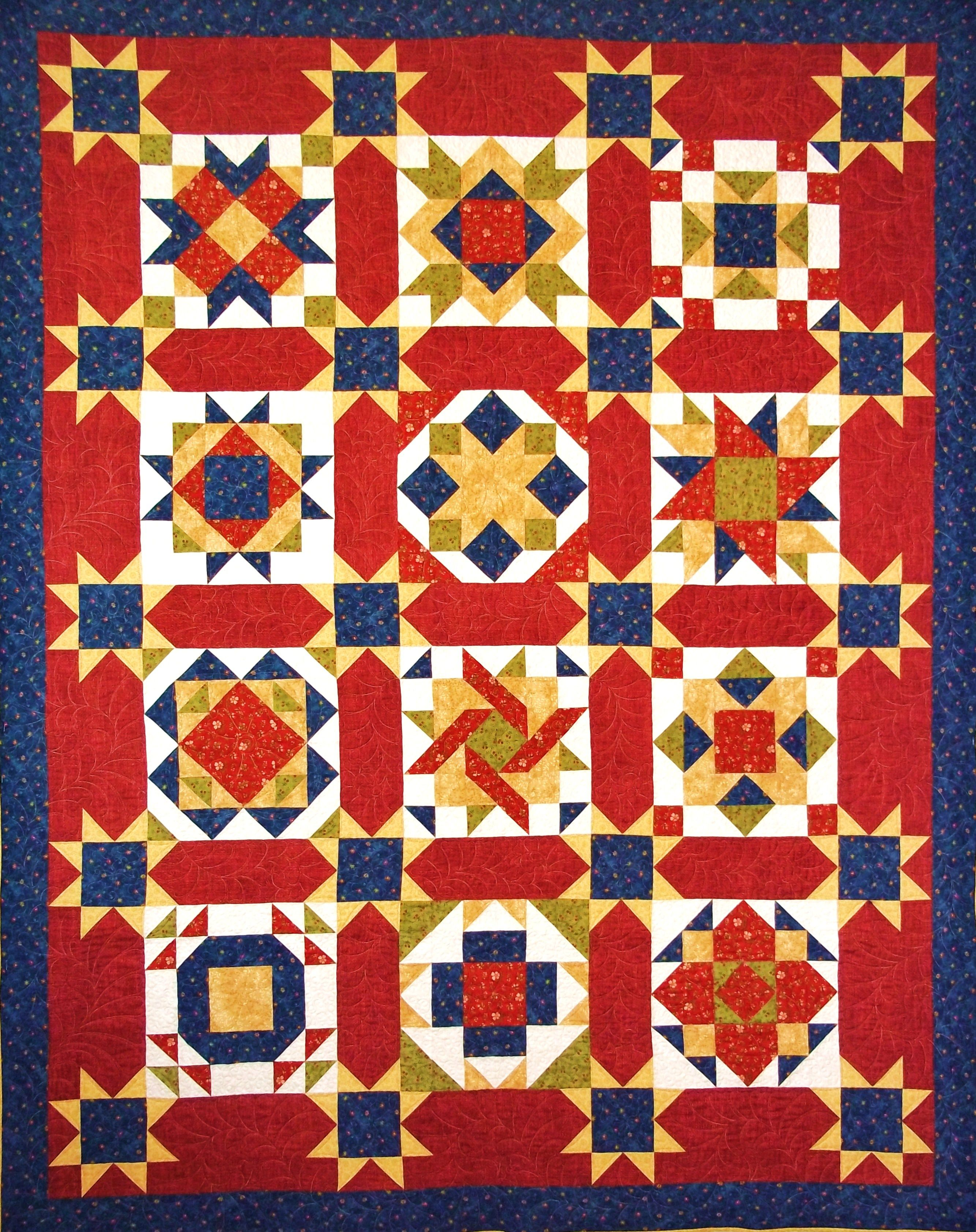 Stars Over The Homestead quilt pattern