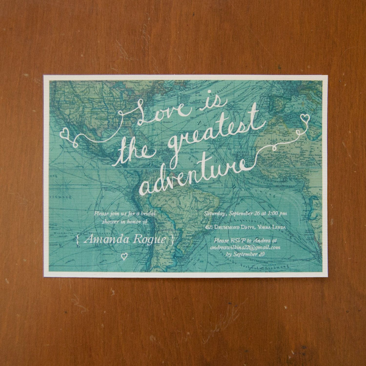 bridal shower invitation quote ideas%0A Love is the greatest adventure digital instant download bridal shower  invitations map travel   Shower invitations  Bridal showers and Digital