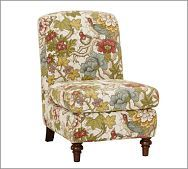 Recovering my grandmother's chair with a slip cover.  The chair is shaped kind of like this.