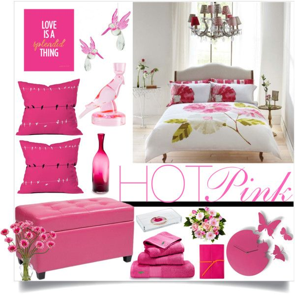 Hot Pink By Loveartrecyclekardstock On Polyvore Featuring Interior Interiors Design Home
