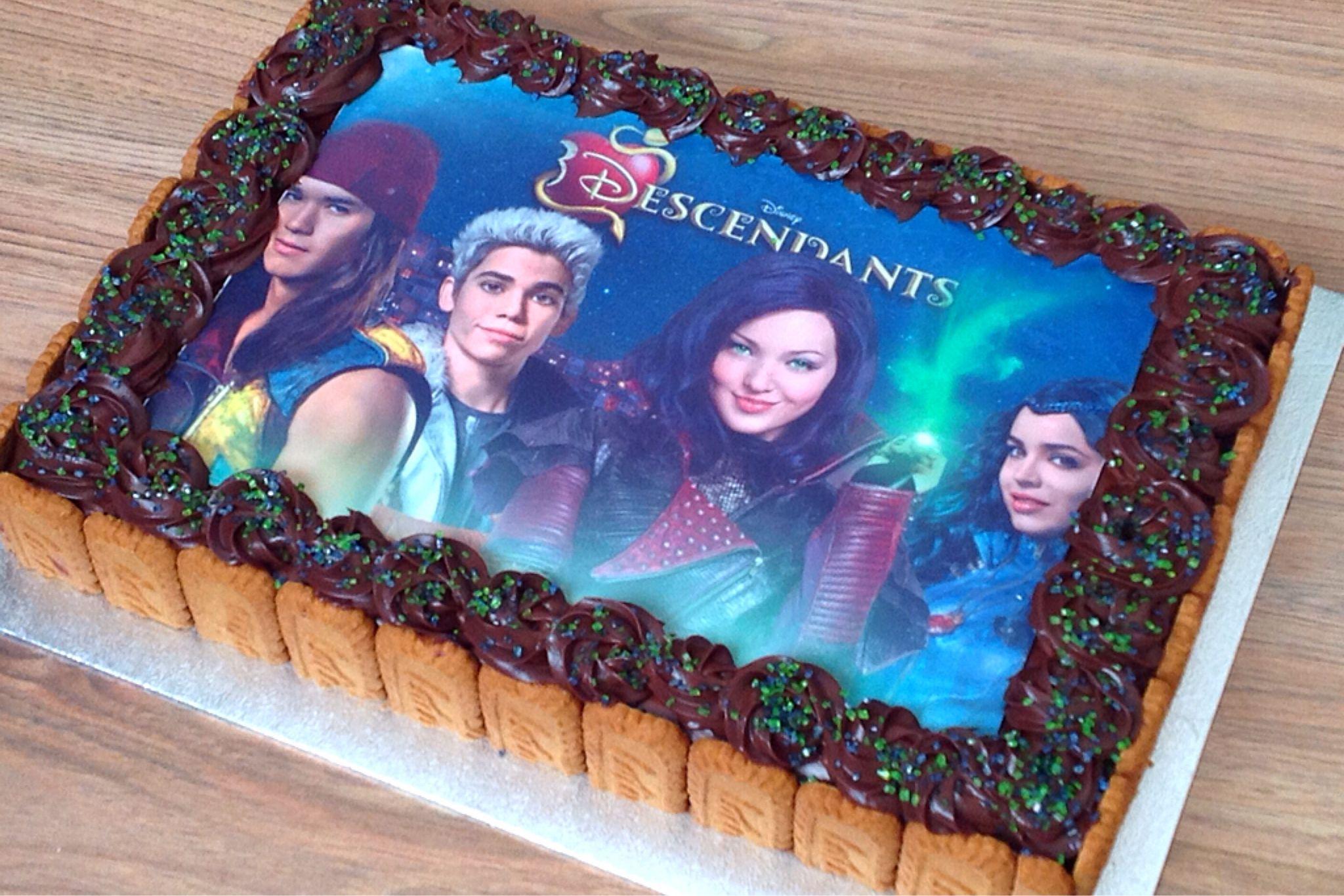 Descendientes 3 Edible Cake Topper Decoración De Cumpleaños Personalizadas De Imagen