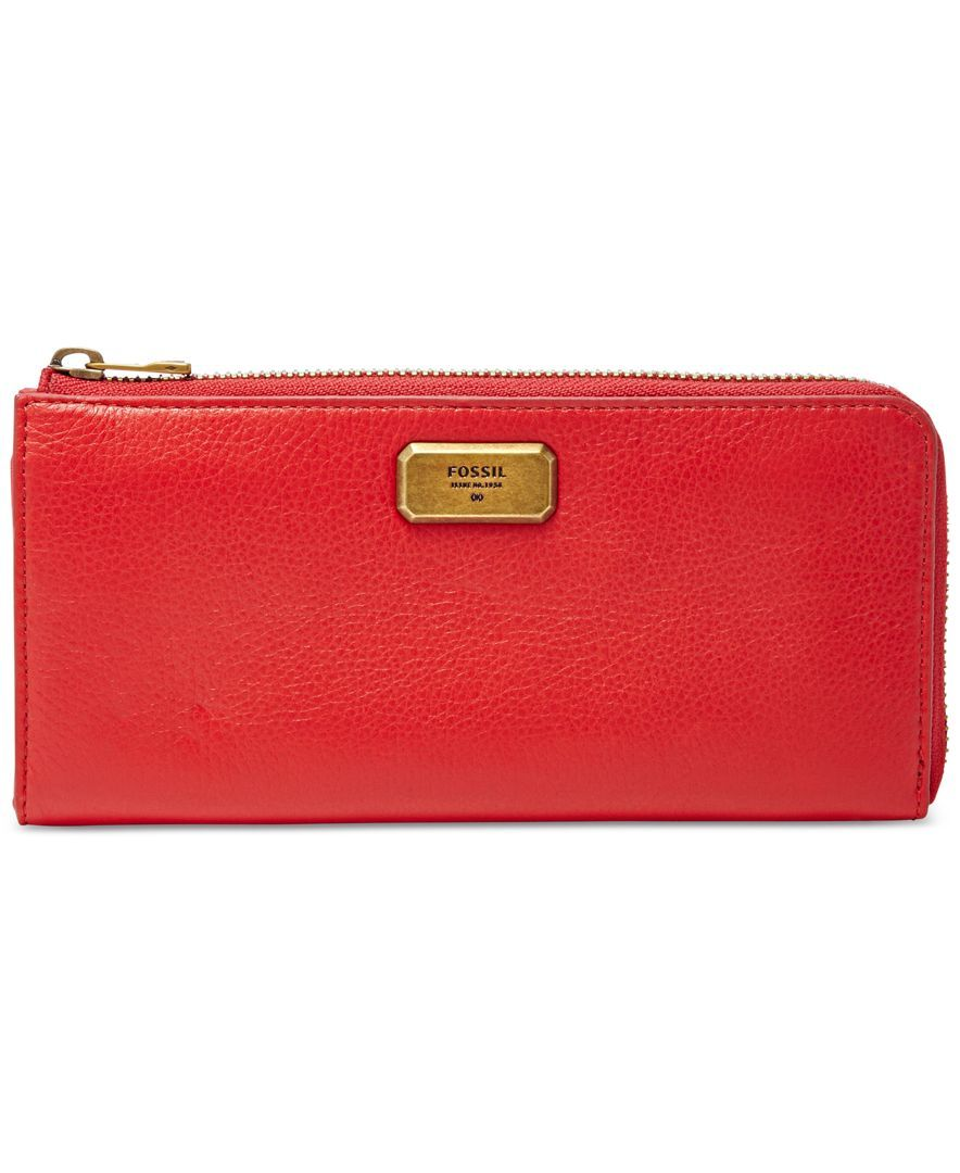 Fossil Emerson Large Zip Clutch Wallet