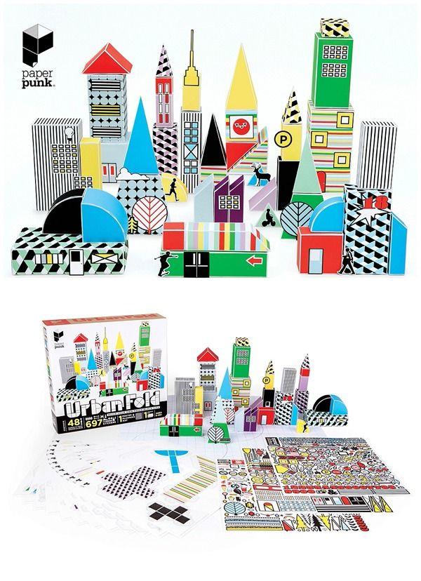 Modern Paper Toy Building Kits | Paper Punk nos inspira para crear nuevos look! #Choozepanama