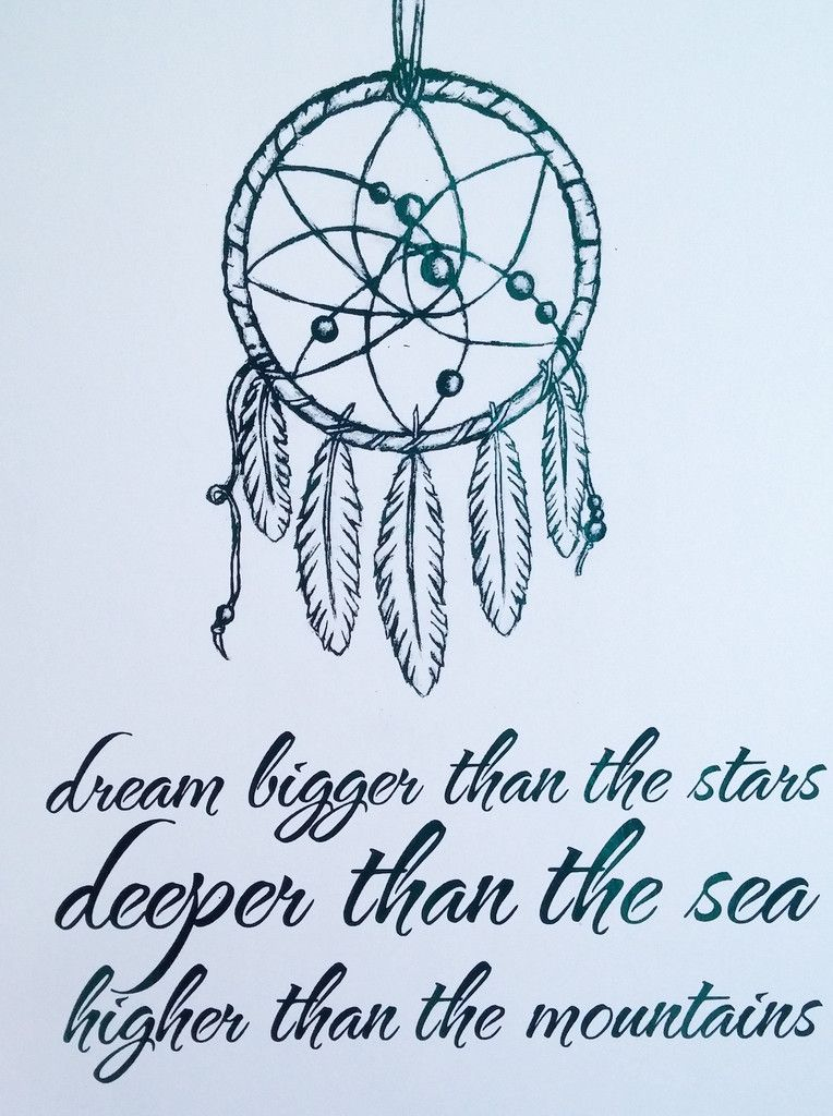 Dream Catcher Quotes | Adorn Your Walls With This Pretty Foil Print Featuring A Dream