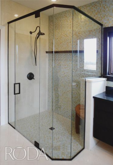 Completely Custom Tresor Door And Panel Enclosure With Extra Panels And A Geolux Handle Wow Custom Shower Doors Shower Remodel Glass Shower