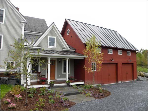 Hinesburg Vermont Mudroom And Garage Addition House Exterior Farmhouse Addition Farmhouse Exterior