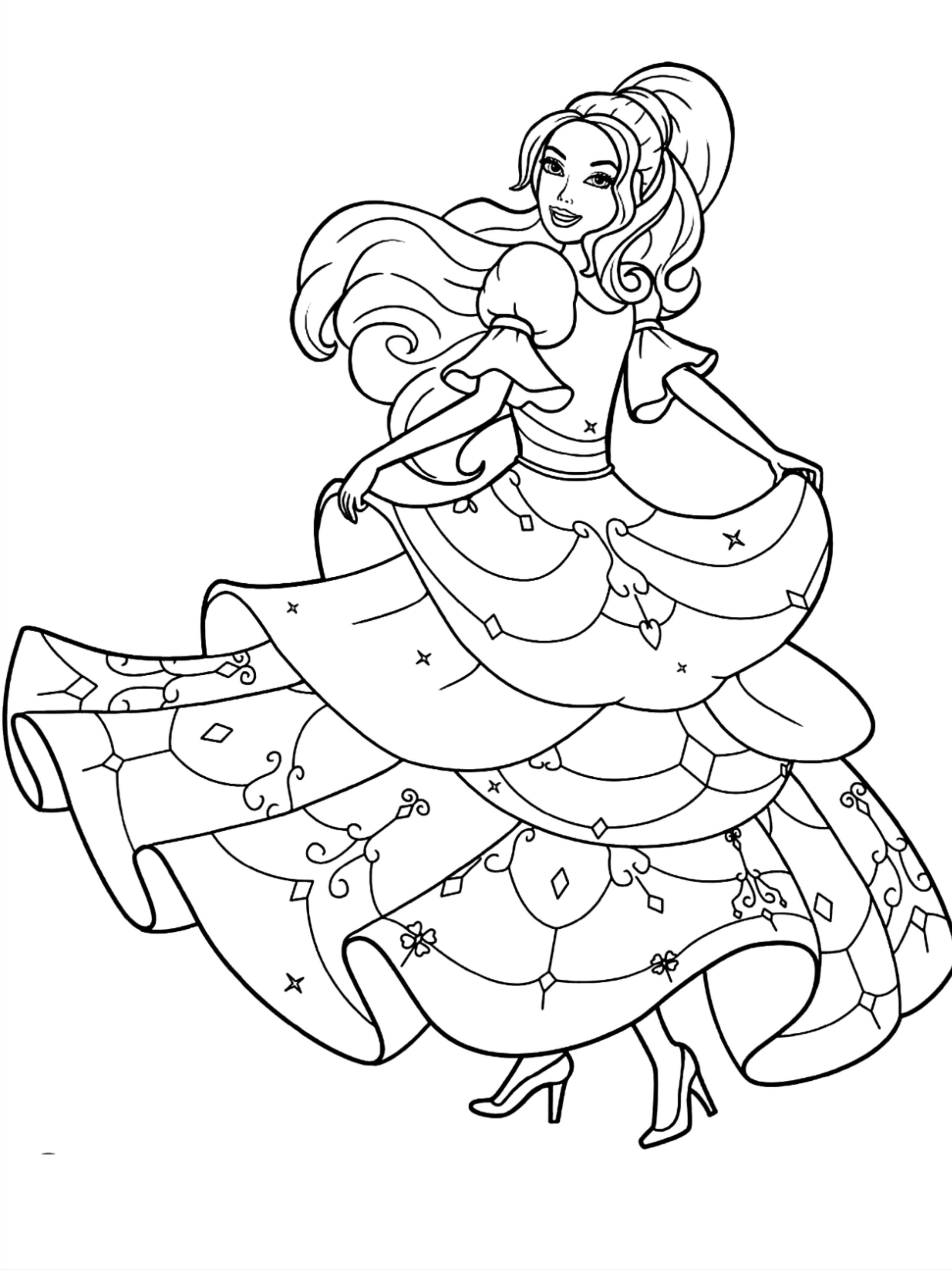 Barbie Princess Coloring Pages For Kids Barbie Coloring Pages Barbie Coloring Princess Coloring Pages