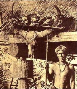 Igorot warrior headhunter from the Philippines