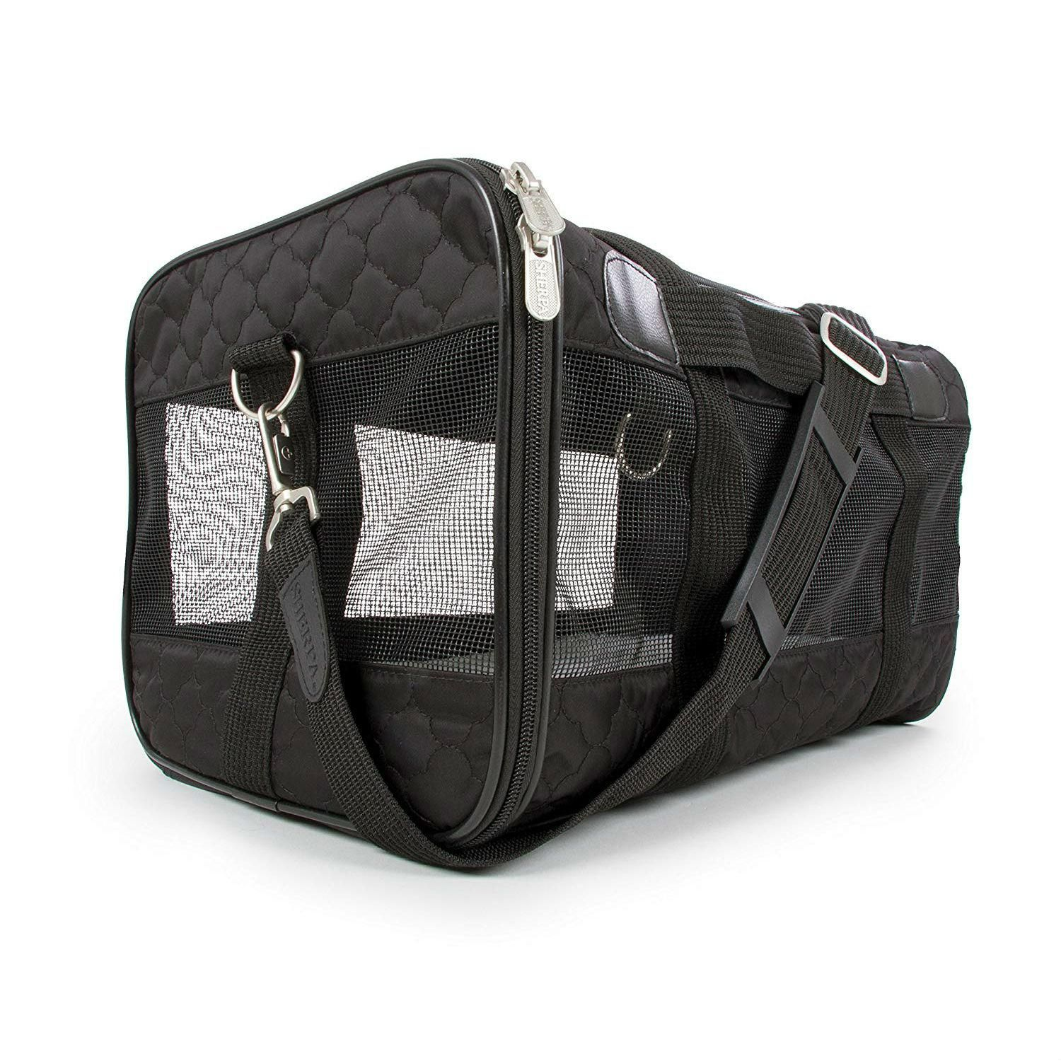 Sherpa Travel Original Deluxe Dog Carrier Black Lattice
