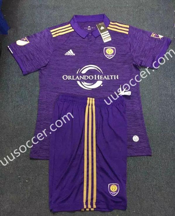 pretty nice afdf5 58237 2017-18 Orlando City Home Purple Soccer Uniform   Cheap ...
