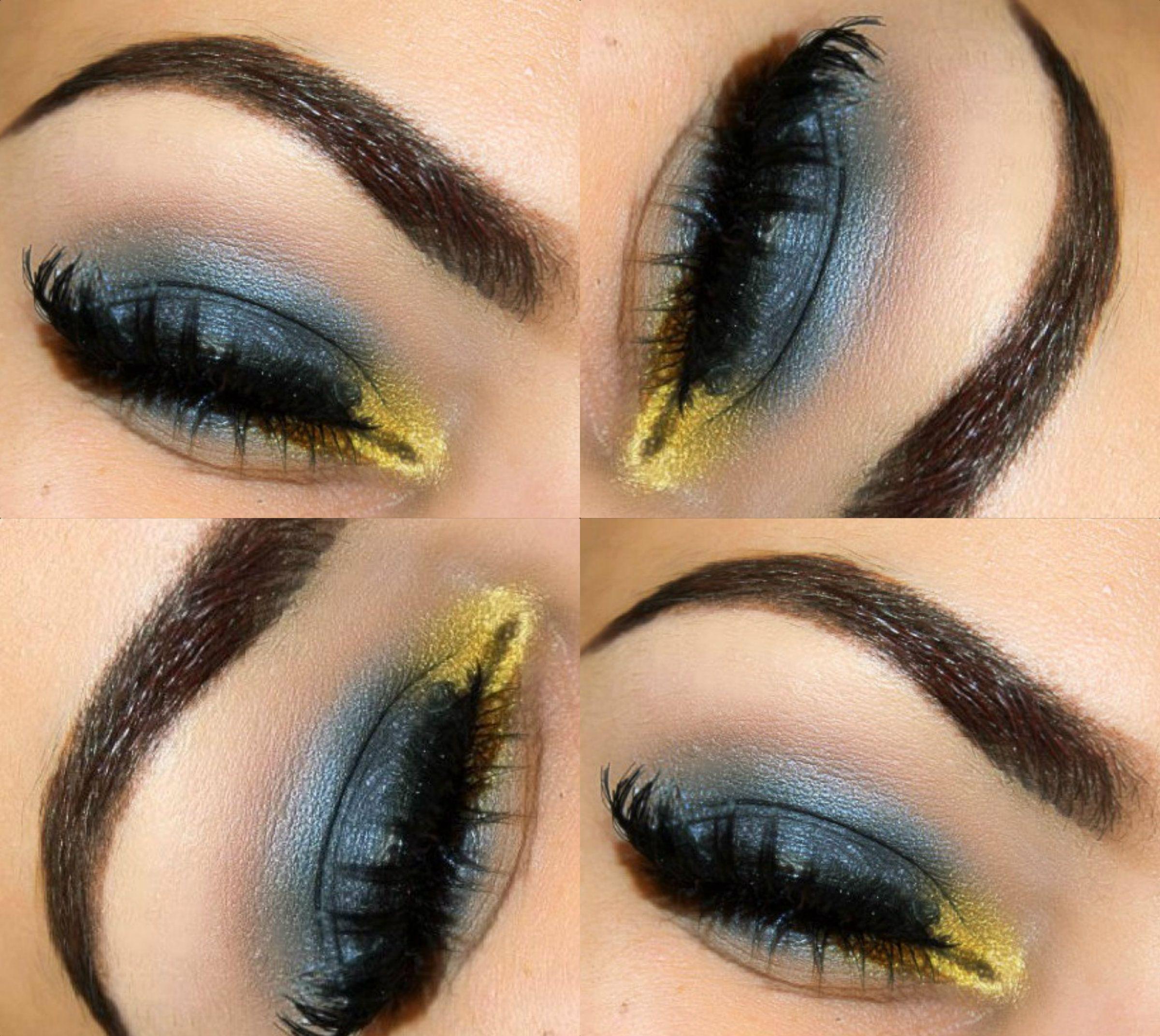 Liquid Gold Makeup Look Liquid gold makeup, Gold makeup