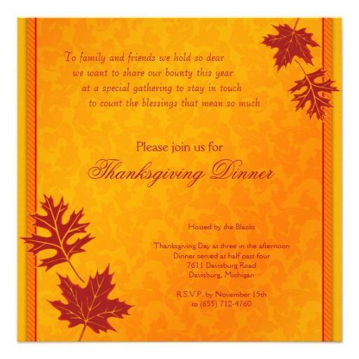 thanksgiving dinner invitation dinner invitations thanksgiving